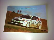 CP POSTCARD CARTOLINA SUBARU IMPREZA HOT RALLY RALLYE WRC 2011
