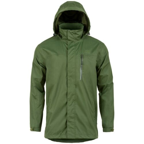 Highlander Arran Waterproof Breathable Rain Jacket Coat Windproof Olive