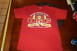 Vintage Champion NCAA 2009 PASADENA TOURNAMENT OF ROSES USC Trojans T-Shirt MED