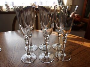 Maria-Gold-Fluted-Champagne-Cristal-d-039-Arques-Gold-trim-8-5-8-034-Set-of-6