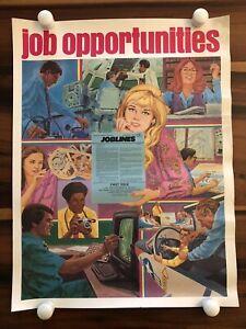 1984 Mcdonnell Douglas Vintage Aviation Employee Job Opportunities Poster E4 Ebay