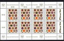 AUSTRIA 1990 GIORNATA DEL FRANCOBOLLO MINIFOGLIO DA 8 ESEMPLARI ** (493)
