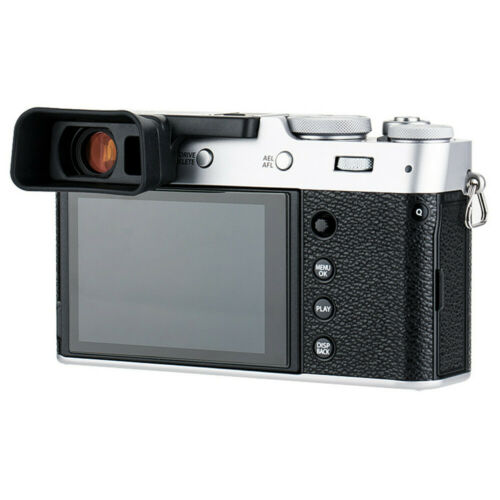 Cámara de silicio suave largo ocular Ocular para Fujifilm Fuji X100V Taza del ojo sombra