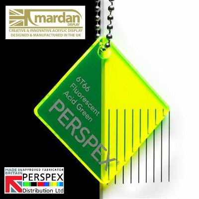 Acrylic Perspex® Fluorescent Green Cut Sheets Cut Panels