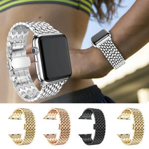 For-Apple-Watch-iWatch-4-3-2-1-38-40-42-44mm-Stainless-Steel-Bracelet-Strap-Band