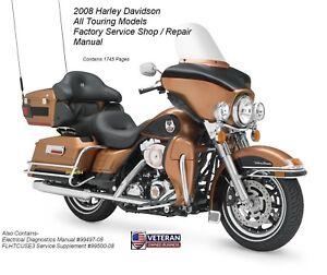 harley davidson 2008 touring models factory service manual