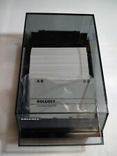 Vintage Rolodex Business Card Filing System Model Cbc 200