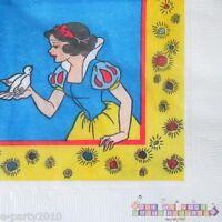 Snow White Small Napkins (16) Vintage Birthday Party Supplies Cake Beverage