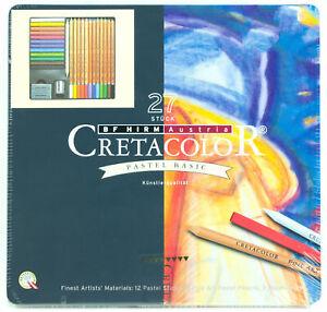 Cretacolor-Pastel-Basic-Set-27pc-Fine-Art-Pastel-Pencils-Sticks-amp-Accessories