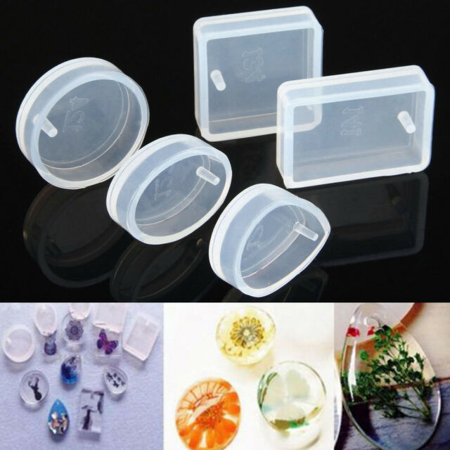 DIY jewelry Pendant 5 pcs  for Resin  Necklace RoundMaking Silicone Mould