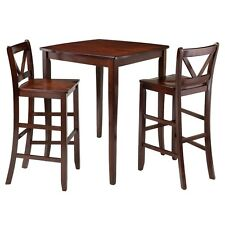 Winsome Inglewood 3-Pc High Table w/2 Bar V-Back Stools 94337 Dining Set NEW