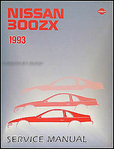 1993 nissan 300zx shop manual 300 zx repair service book coupe and rh ebay com 300zx service manual 300zx service manual pdf download