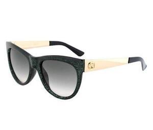 Gucci-GG-3739-N-S-VKB-9K-GLITTER-GREEN-amp-Gold-occhiali-da-sole-Grigio-Gradient-Lens-S-55