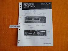 SERVICE MANUAL Kenwood KX 66CW english Service Anleitung