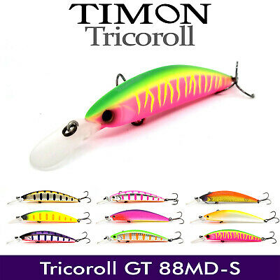 9341 Jackall Timon Tricoroll GT 56 MD-F Floating Lure Flash Blueback
