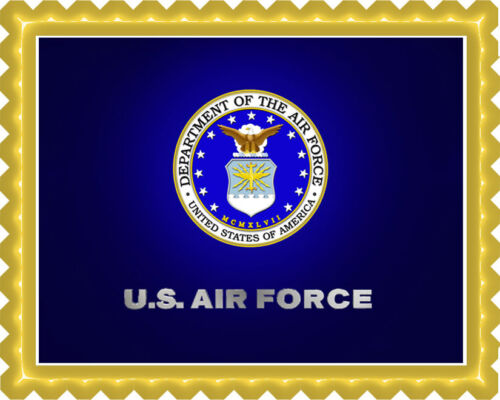 Decor Edible Cake Topper OR Cupcake Topper US Air Force