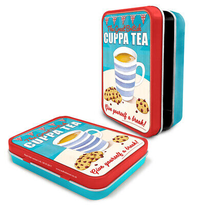British Fish /& Chips Retro Art UK GB Food Metal Keepsake Tin Gift Box 50534