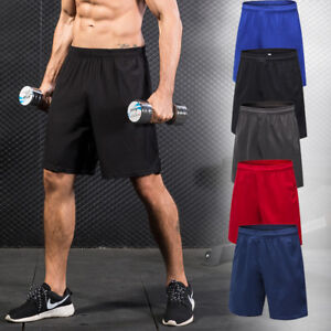 Mens-Shorts-Basketball-Football-Gym-Training-Beach-Athletic-Dri-fit-with-Pockets