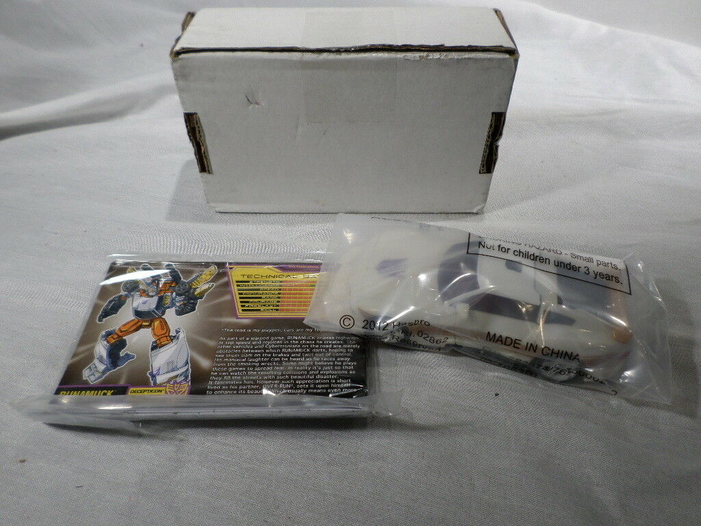 Transformers scatolaED Collectors Club UNUSED correreamuck