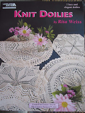 Knit Doilies Pattern Book by Leisure Arts 7 Lacy Elegant Designs NEW