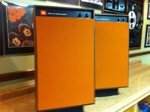 One-New-Pair-of-JBL-Studio-Monitor-4310-4311-4312-Burnt-Orange-Grille-Covers