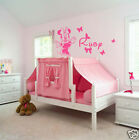 Personalise Name & inspired Minnie DIY Removable wall sticker for kids
