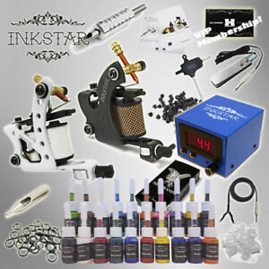 Complete-Tattoo-Kit-Professional-Inkstar-2-Machine-MAKER-Set-GUN-20-Ink
