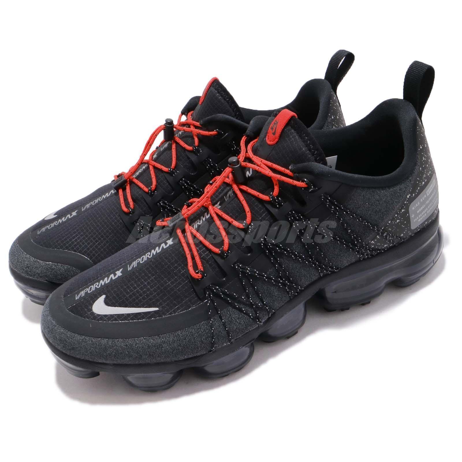 7102633d77 Nike Air Vapormax Run Utility Mens Aq8810-001 Black Red Running ...