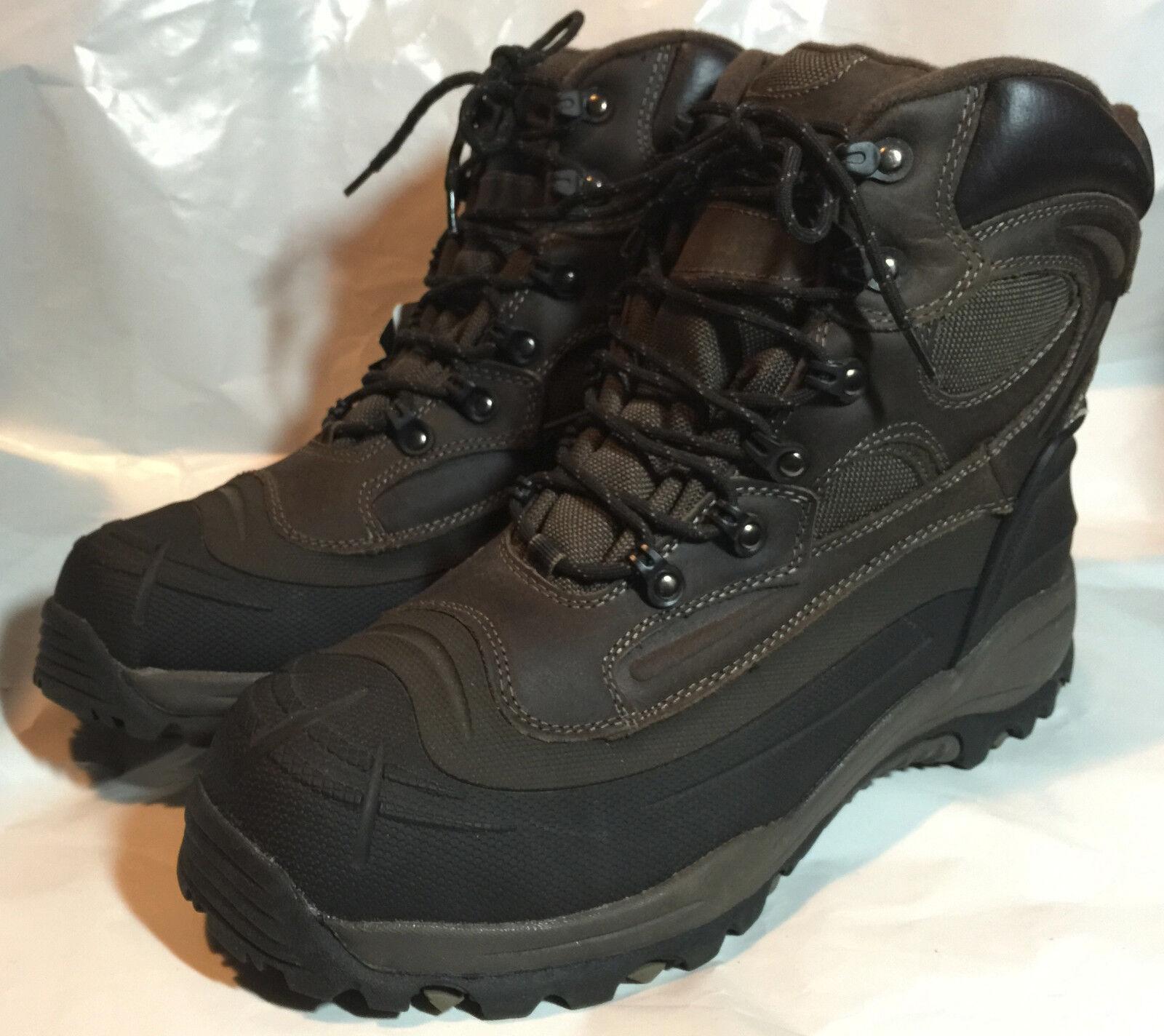 Weatherproof TREMOR BROWN Men's Insulated Waterproof Snow Winter Leather Boots