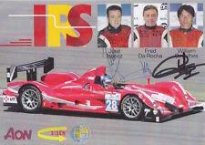 Ibanez, Da Rocha, Cavailhes Hand Signed Le Mans Promo Card Audi.