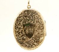Antique Victorian 14k Yellow Gold Oval Locket