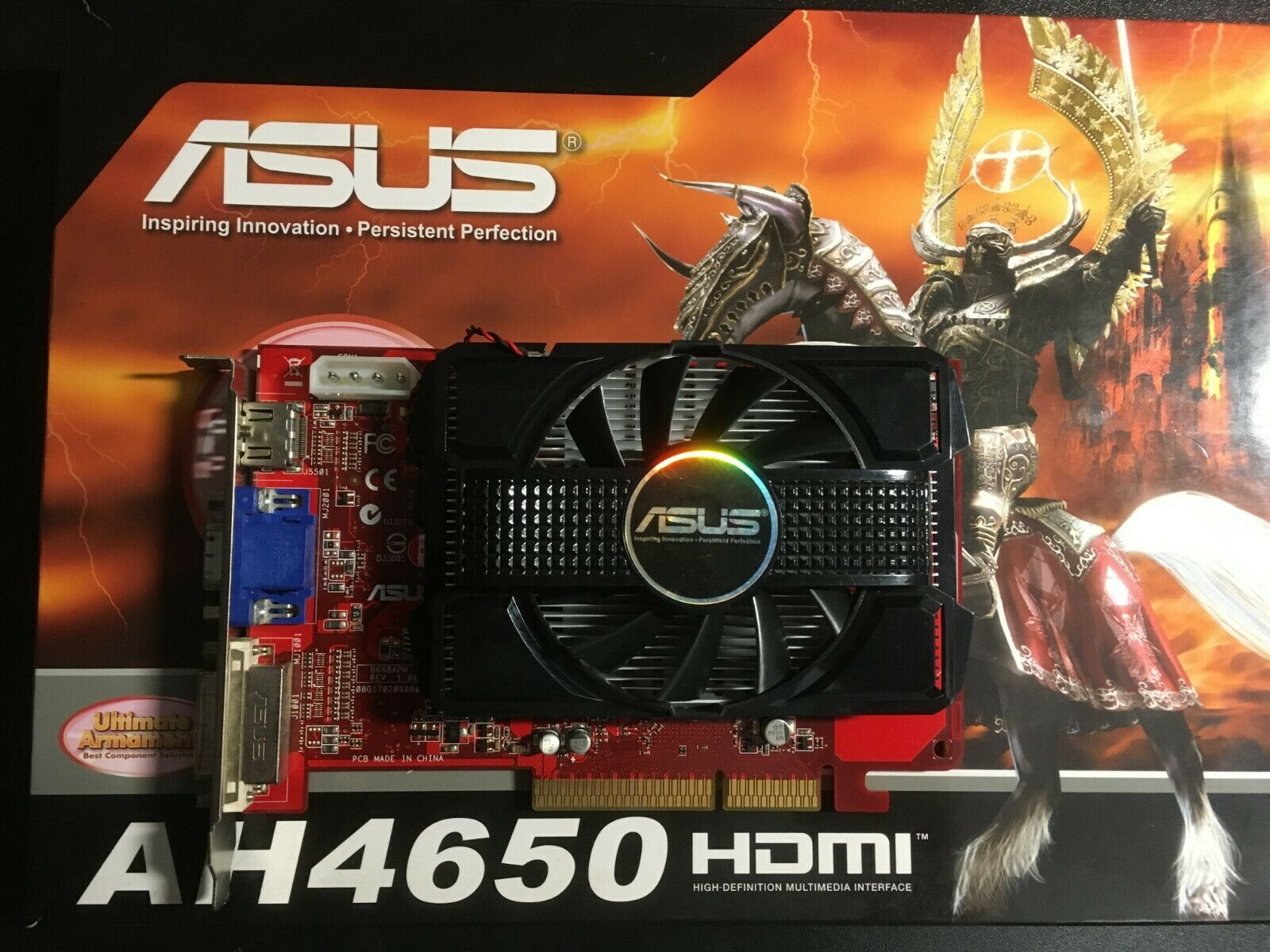 ✔ tested ASUS HD4650 AGP 1GB RARE videocard with HDMI port + BOX + SpeedSetup