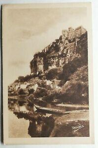 820-Antica-Cartolina-la-Dordogne-Fiume-Chateau-Feudale-da-Beynac