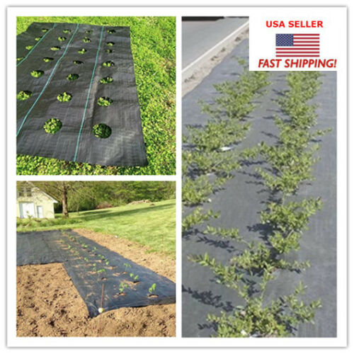 3.0oz 20 YEAR WEED BARRIER Landscape Fabric Ground Cover for Planting 3*12ft