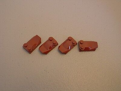 5x 4507833 Brick 47456 LEGO NEW 2x3x0.67 Reddish Brown Brick Two Studs and Fin