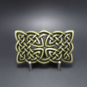 Bronze-Original-Celtic-Cross-Knot-Cowboy-Western-Metal-Belt-Buckle
