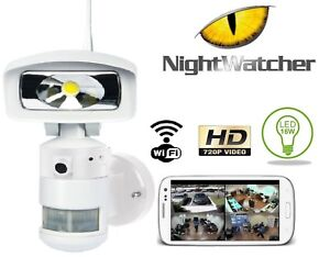 Image Is Loading Flood Light Camera Nighcher Robotic Led Hd