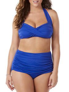 c8c8c6834ff Catalina Simply Slim Women s Slimming High-Waisted Bikini Swimsuit ...