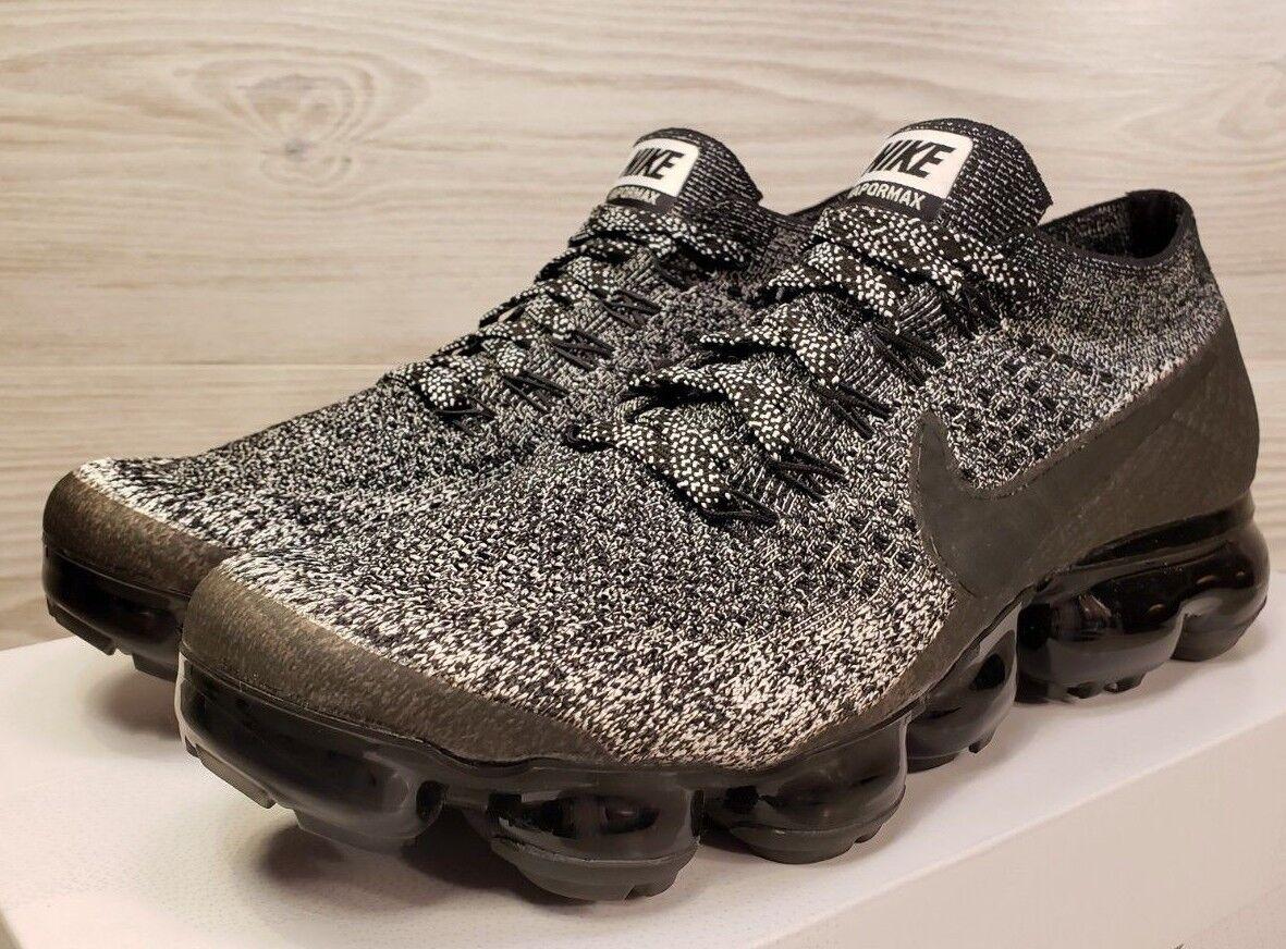 9793b8a821 Nike Air Vapormax Flyknit Oreo Black Black Black White Fashion Trainers  849558-041 Pick Size