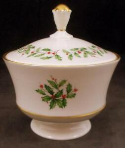 Lenox-HOLIDAY-Candy-Jar-with-lid-GREAT-CONDITION