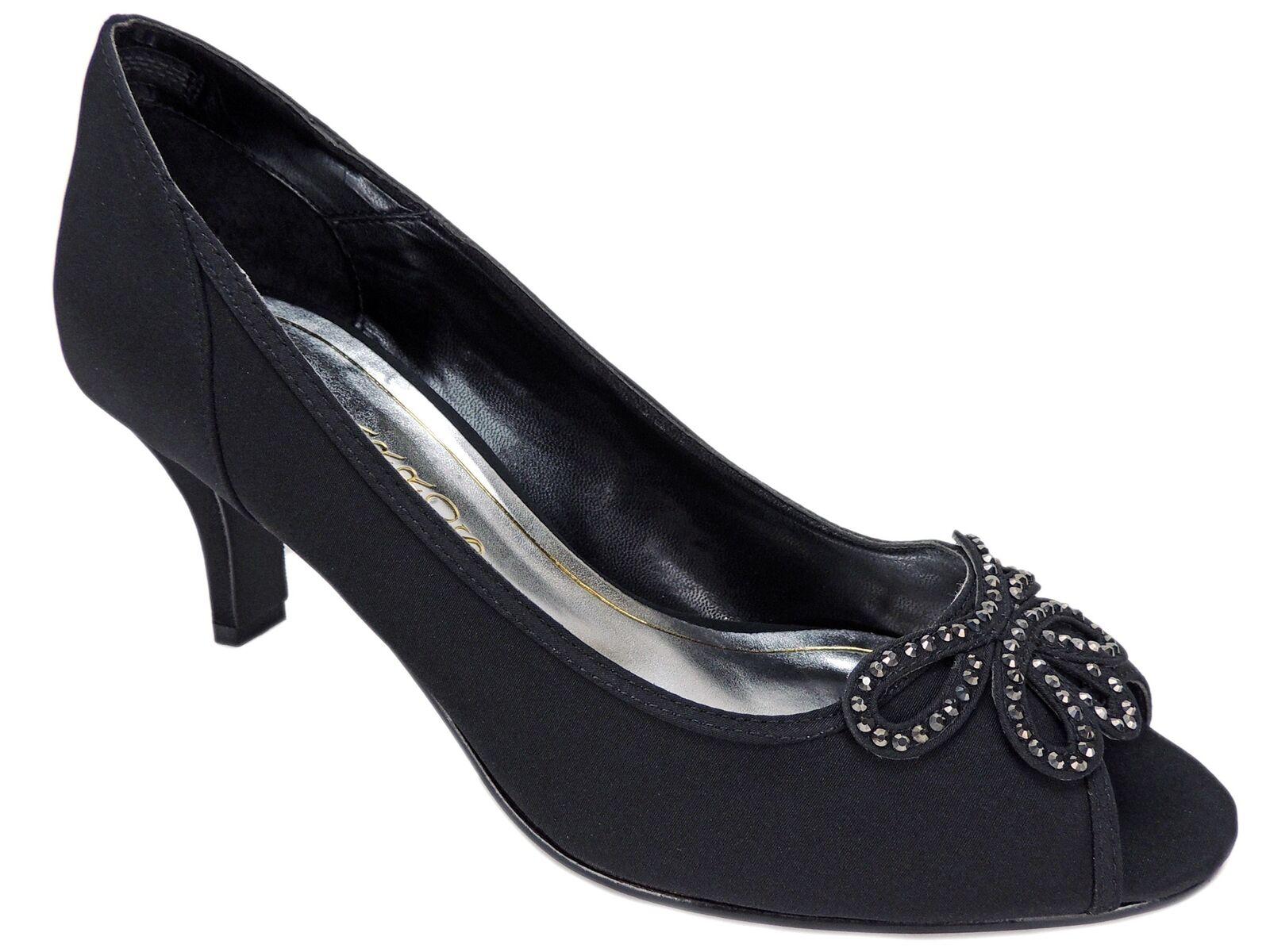 Caparros Women's Watsons Evening Pumps Black Faille Size 8.5 M