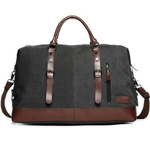 48e8250748 Image is loading Duffel-Bag-Oversized-Canvas-Travel-Overnight-Weekender -Carry-