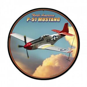 P-38 Lightning 3-D Metal Sign - Hand Made in the USA with