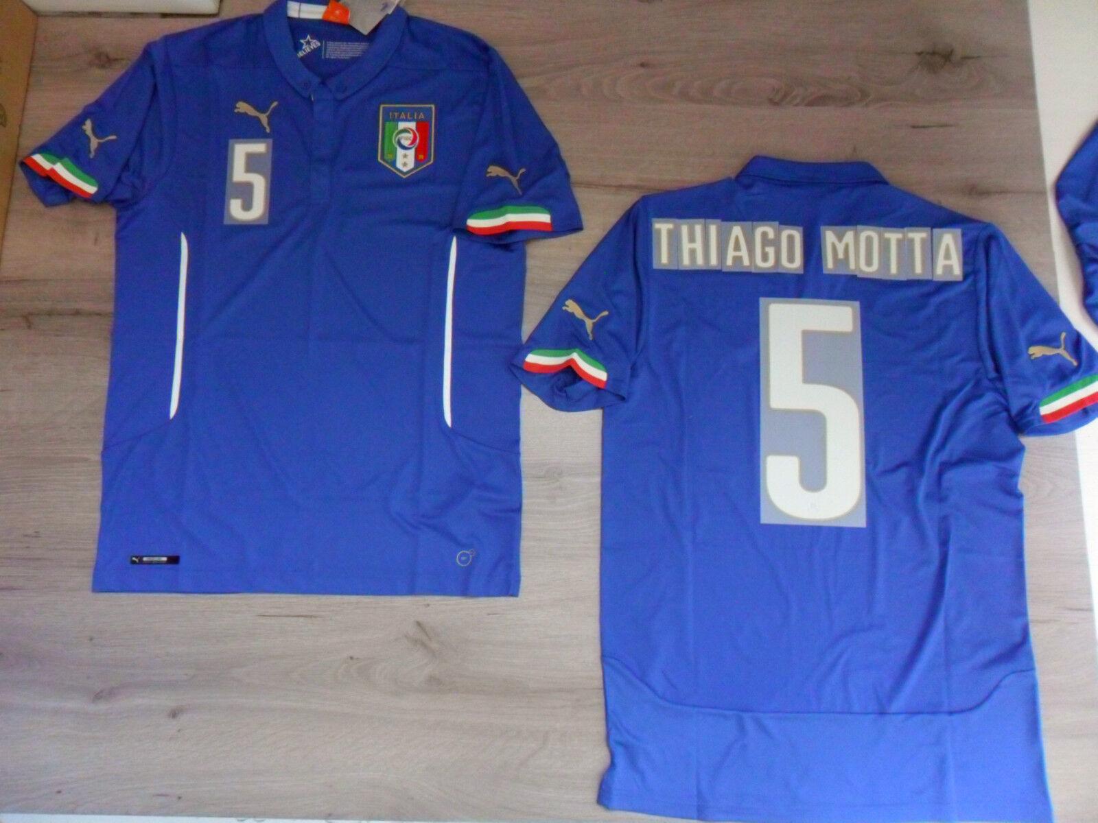 FW14 PUMA XL HOME ITALIEN 5 THIAGO MOTTA T-SHIRT T-SHIRT MOTTA WELT TRIKOT JERSEY b33d21