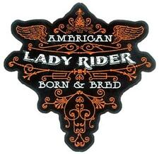 AMERICAN LADY RIDER BORN & BRED DELUXE BIKER PATCH