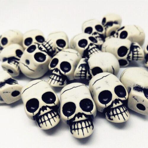 10//100pcs 25mm Shantou skull bead jewelry accessories handicraft beads