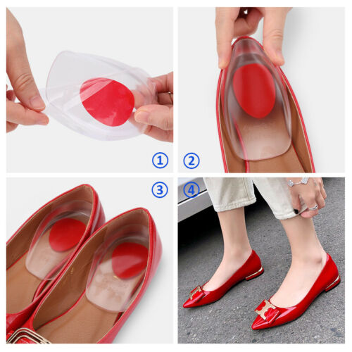 Gel Foot Cups Heel Support Spur Insoles Pad Pain Relief Cushion for Women /& Men