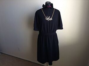 493fcb76b4 NWT LOVE MOSCHINO  610 Black Dress with Gold  Love  Necklace 48 US ...