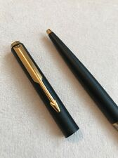 1990 PARKER 95 EPOXY MATT BLACK GOLD TRIM BALLPOINT PEN-FRANCE-BLACK INK-SUPERB