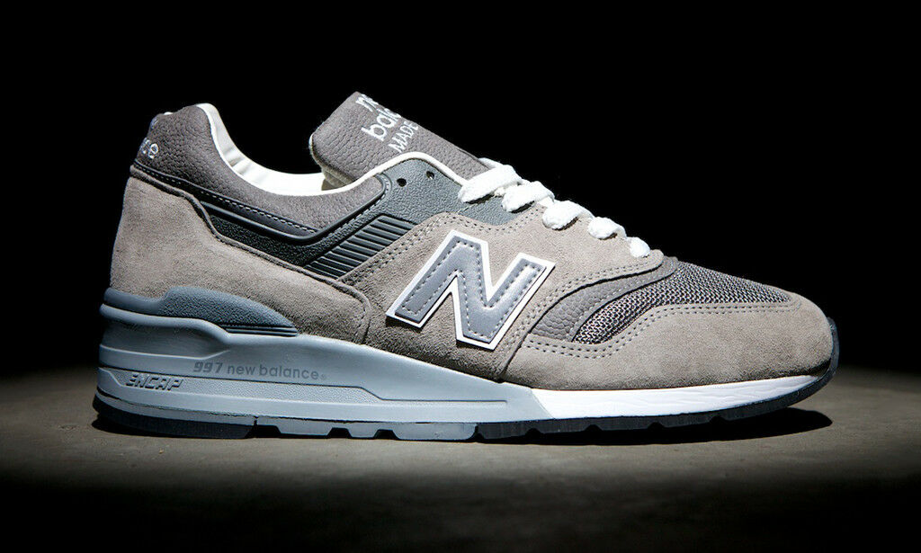 New Balance 997 Made in USA Grey White Sz 6 M997GY